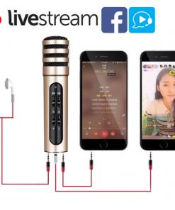 Mic karaoke Livestream C7, C6 3in1 da nang