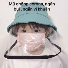 Nón chống dịch Virus Covi-19 Corona cho trẻ em tron